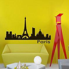 Vinyl Wall Decals Paris Skyline City Silhouette Sticker Home Decor Art Mural Z594 WisdomDecalHouse http://www.amazon.com/dp/B00PG0DPP6/ref=cm_sw_r_pi_dp_6cryub03W379R
