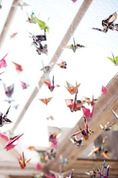 leuke versiering: origami vogeltjes