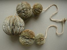 Beads made of books by Phiona Richards