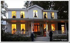 Halloween window silhouettes. Very inexpensive, easy but wow what an impact!