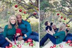 Christmas Pictures...love the ornaments outside!