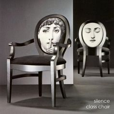 One quirky item can be fun ...Chair Inspired By: Piero Fornasetti