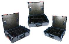 Bosch L-BOXX Größe 2 Sortimo 136 - 3 Stück mit Kleinteileinsatz MIX-Mulden