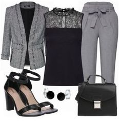 Only New Look Damen Outfit - Komplettes Business Outfit günstig kaufen | FrauenOutfits.de Komplette Outfits, College Outfits, Fall Outfits, Fashion Outfits, Womens Fashion, Blazer Outfit, Grey Outfit, Business Outfits, Business Fashion