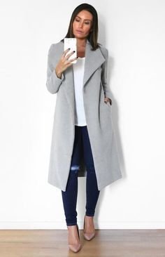 Harper Coat In Grey!