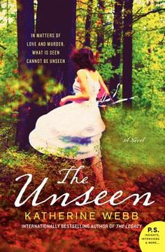 The Unseen by Katherine Webb Set in two time periods, 100 years apart, Webb deftly weaves the two stories together, keeping readers engrossed and guessing until the final pages.A freelance journalist is called to Belgium to help with the identification of a World War I soldier found in a bog and in possession of two personal letters. In an English village in 1911, love, the occult, ambition, jealousy and murder disrupt the peaceful existence of Reverend Albert Canning.