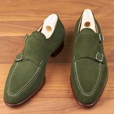 Handmade Mens hunter green suede monk shoes, Mens formal shoes, Men dress shoes sold by LeathersPlanet. Shop more products from LeathersPlanet on Storenvy, the home of independent small businesses all over the world. Olive Green Shoes, Green Suede, Black Suede, Suede Leather Shoes, Soft Leather, Calf Leather, Cowhide Leather, Brown Leather, Custom Design Shoes