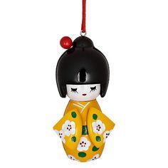 John Lewis Kokeshi Doll Tree Decoration
