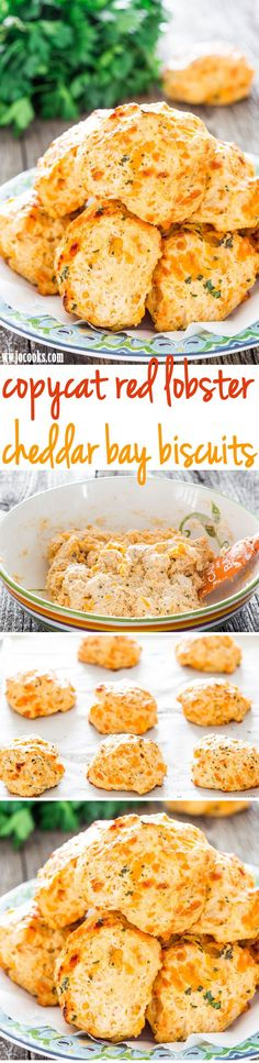 Personalized Graduation Gifts - Ideas To Pick Low Cost Graduation Offers Copycat Red Lobster Cheddar Bay Biscuits - You Can Be Enjoying These Savory Cheddar Bay Biscuits In Just Under 30 Minutes. They're Easy To Make And Soooo Good Side Recipes, Great Recipes, Favorite Recipes, I Love Food, Good Food, Yummy Food, Cheddar Bay Biscuits, Savoury Biscuits, Homemade Biscuits