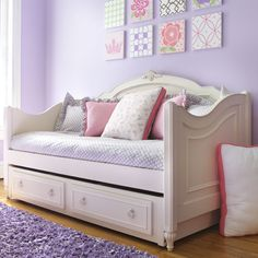 Daybed but instead of another bed i can use the trundle as a storage for all her stuffed animals