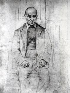 Pablo Picasso, Portrait of Max Jacob, 1915