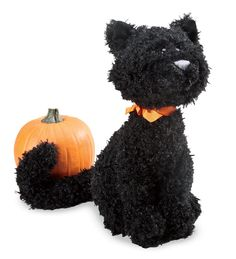 Halloween Plush Boo the Cat - love, love love him!  Adorable!  He's definitely sitting on my heart this Halloween!
