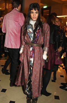 Sofia Boutella wearing Burberry silk layering from the September Collection to celebrate the launch of The Tale Of Thomas Burberry in London