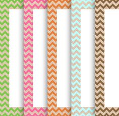 8.5x11 Bordered Linen Chevron Border Sheet Pack of 5--JPG Format Downloadable Bordered Digital Papers for Classroom, Fliers, Etc
