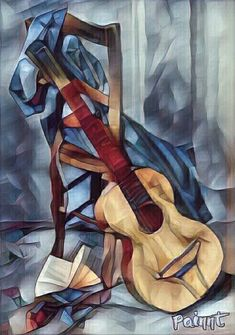 Room of Kas - Painting Cubism Art, Jazz Art, Guitar Art, Art Graphique, Art Music, Love Art, Watercolor Art, Abstract Art, Illustration Art