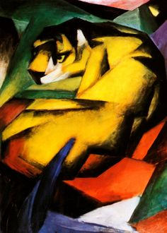 Franz Marc - Tiger   Franz Marc was a German painter, one of the key figures of the German Expressionist movement. He was a founding member of Der Blaue Reiter (The Blue Rider), a journal whose name later became synonymous with the circle of artists collaborating in it.
