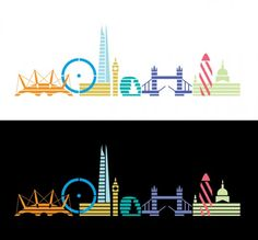 Beautiful graphic representations of London's iconic skyline from Christopher Dina