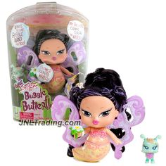 MGA Entertainment Bratz Babyz Bubble Butterfliez Series 5 Inch Doll - JADE with Flower that Squirts Water and Blue Fairy