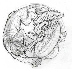 Dragon and Tiger by jonlarkins on DeviantArt