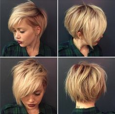 Messy, Blonde Pixie Hairstyle - Best Short Haircuts