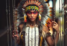 A Girl In Indian Costume And Makeup By Alex Noori