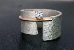 Beautiful Ring by Dagmara Costello – (Gold, Silver, & Stone Ring) - Gold Jewelry Bijoux Design, Schmuck Design, Sterling Silver Jewelry, Gold Jewelry, Jewelry Rings, Silver Earrings, 925 Silver, Jewellery Box, Silver Bracelets