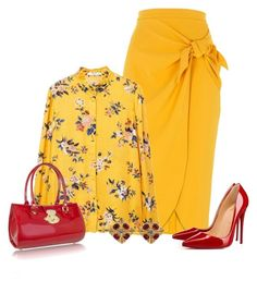 """""""Wear it in a Mustard Skirt"""" by kim-mcculley ❤ liked on Polyvore featuring River Island, MANGO, Christian Louboutin, L.A.P.A. and WearIt"""