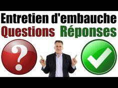 Coach Emploi : Entretien d'embauche Questions et Réponses exemples - YouTube