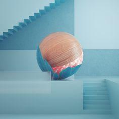 Friedrich Neumann on Behance 3d Cinema, Photoshop Rendering, 3d Texture, 3d Artwork, Design Graphique, 3d Shapes, Design Lab, Clean Design, Motion Design