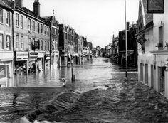 Flooded High Street 1968