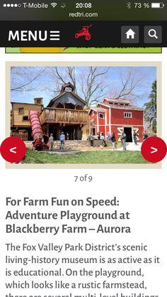 Playgrounds Chicagoland - Adventure Blackberry Farm - Aurora