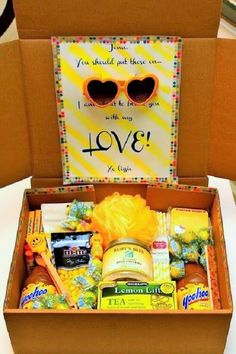 "healthy care packages for college students: The ""Box of Sunshine"" Care Package"