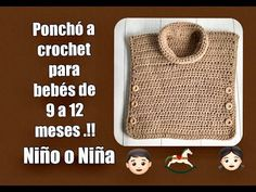 TUTORIAL ( PONCHO PARA BEBES DE 9 A 12 MESES). Tejiendo Con Erica - YouTube Baby Patterns, Crochet Baby, Diy And Crafts, Make It Yourself, Youtube, Children's Poncho, Baby Coming Home Outfit, Vest Coat, Crochet Dress Patterns