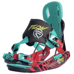 Flow SE Snowboard Bindings 2013 in Red Turquoise Snowboard Equipment, Snowboard Bindings, Snowboarding Outfit, Red Turquoise, Winter Gear, Winter Sports, Gears, Skateboard, Skiing