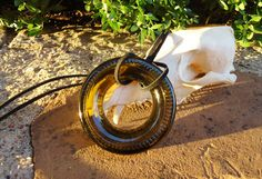 Does she love wine? Wine Bottle Punt Pendant Necklace Handmade by ConversationGlass, $24.00