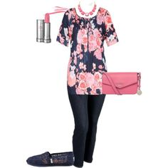 A fashion look from March 2014 featuring Old Navy jeans, TOMS flats and Fiorelli shoulder bags. Browse and shop related looks.