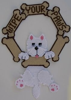 "everything plastic canvas | Plastic Canvas-""Wipe your Paws"" Westie Plastic-Canvas-Kits.Com"