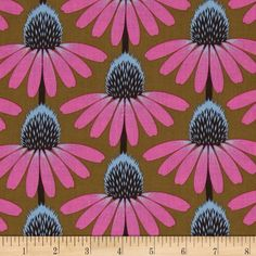 Anna Maria Pretty Potent Echinacea Outloud from @fabricdotcom Designed by Anna Maria Horner for Free Spirit, this cotton print is perfect for quilting, apparel and home decor accents. Colors include ochre, dark stone, magenta and sky blue.