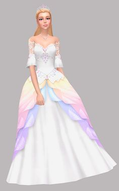 Sims 4 Mods Clothes, Sims 4 Clothing, Clothing Ideas, Sims New, Sims 4 Mm, Disney Princess Dresses, Barbie Princess, Princess Outfits, Los Sims 4 Mods