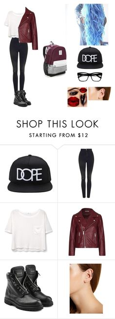 """Going to see Simon. Day 1."" by miniminterqueen ❤ liked on Polyvore featuring 21 Men, Topshop, MANGO, Ganni, Balmain, House of Harlow 1960 and Victoria's Secret"