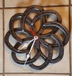 Horse Shoe Wall Clock by Horseshoenique on Etsy