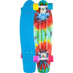 Penny Tie Dye Nickel Skateboard - As Is ($140) ❤ liked on Polyvore featuring men's fashion, men's accessories, men's neckwear, ties and as is