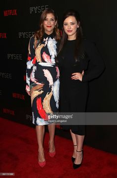 Actresses Kate Walsh (L) and Katherine Langford attend Netflix's '13 Reasons Why' FYC event at Netflix FYSee Space on June 2, 2017 in Beverly Hills, California.