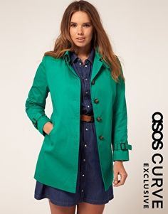 Man.. so tempted to buy this coat.    Enlarge ASOS CURVE Exclusive Classic Mac