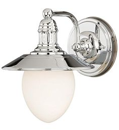 Ceiling Fans Decoration | Vaxcel W0051 Marina Bay 1 Light Vanity Light Polished Nickel Finish -- Read more reviews of the product by visiting the link on the image. Note:It is Affiliate Link to Amazon. #yummy