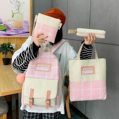 Work Bags, School Backpacks, Bag Sale, School Bags, Fashion Backpack, Student, Sale Uk, Canvas, Pink