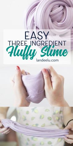 The ultimate recipe for making slime! See how to make slime easily with household products! So fun to play with!
