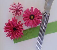 Iguanastamp! Flowers made with Stampin' Up fringe scissors