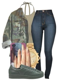 """I'm I Cute? Yes Or No."" by champangemamii ❤ liked on Polyvore featuring NLY Trend, Michael Kors and adidas Originals"