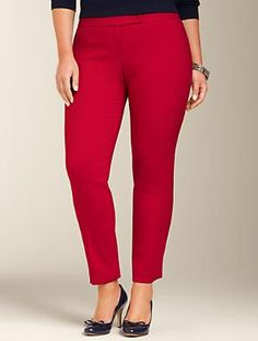 Talbots - Signature Fit Gigi Double-Weave Ankle Pant | Woman | Woman $36 on clearance